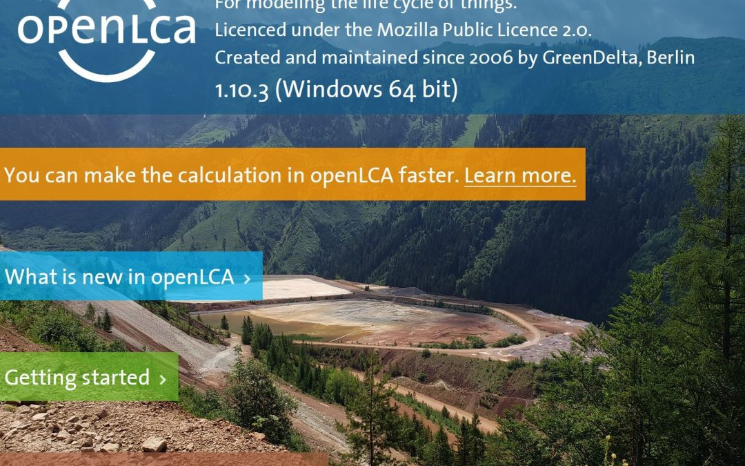 Continuous improvement of openLCA